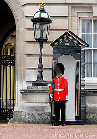 Queen s Guard, Buckingham Palace, London Editorial Image
