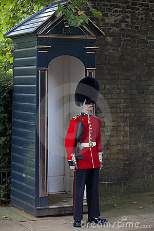 Queen s Guard on Duty Editorial Stock Photo