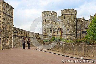 Queen s Guard soldiers in Windsor Castle, UK
