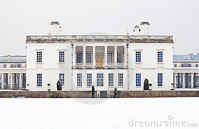 Queen s house in Greenwich in a cold winter day