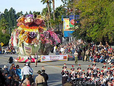 Queen s Trophy at The 2010 Rose Bowl Parade Editorial Image