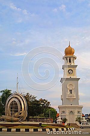Free Queen Victoria Clocktower In Georgetown Stock Photography - 12247062