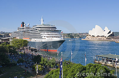 Queen Victoria Cruise Ship Sydney Editorial Stock Image
