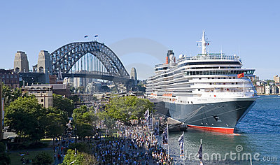 Queen Victoria Cruise Ship Sydney Harbor Editorial Image