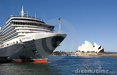 Queen Victoria Cruise Ship Sydney Opera House Editorial Photo