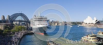 Queen Victoria Cruise Sydney Harbour Editorial Stock Image