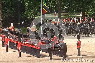 �the Queen�s Birthday Parade�. Editorial Stock Photo