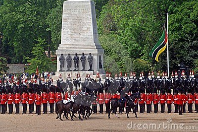 the Queens Birthday Parade. Editorial Stock Image