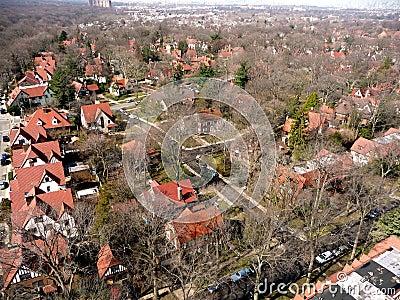 Queens borough aerial New York