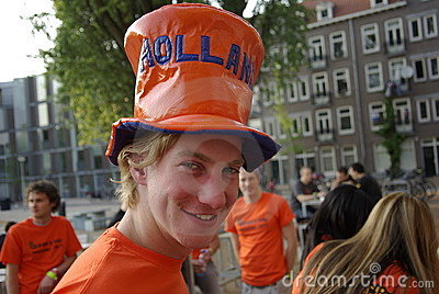 Queens day Amsterdam Editorial Stock Image