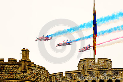 Queens Diamond Jubilee Great Parade Editorial Stock Photo