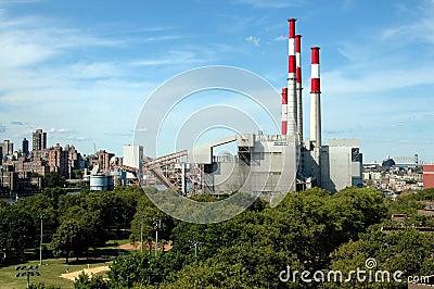 Queens, NY: Keyspan Power Plant Editorial Photo