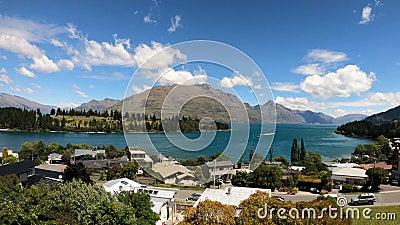 Queenstown, Lake Wakatipu, Otago, South Island, New Zealand, Oceania. stock footage