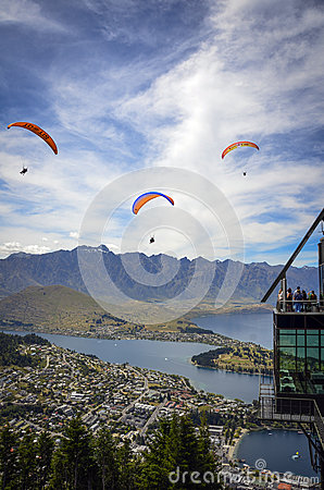 Queenstown parapenting Editorial Stock Photo