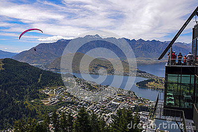 Queenstown parapenting Editorial Image