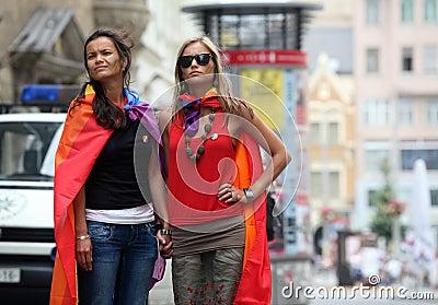 Queer Parade in Brno Editorial Stock Photo