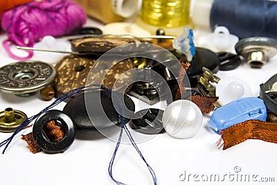 Quelques boutons et accessoires