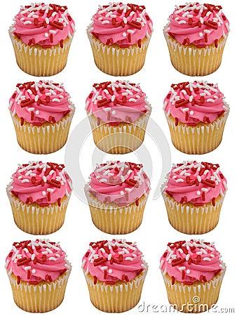 Queques cor-de-rosa