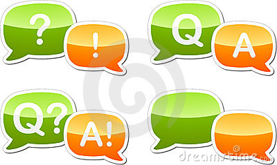 Question answer dialog speech illustration