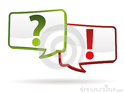 Question answer signs