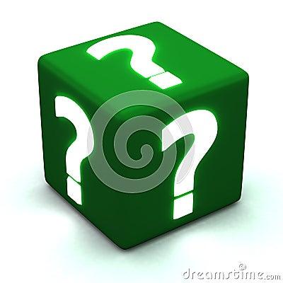 Question cube 3d