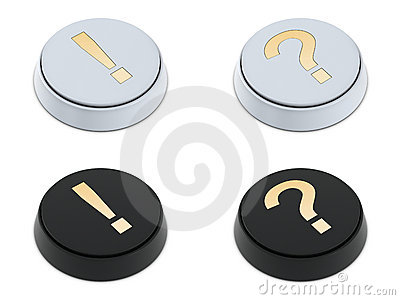 Question and exclamation mark buttons