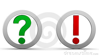 Question exclamation marks