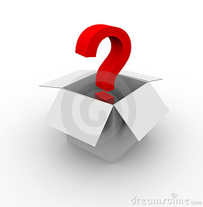 Question mark in the box
