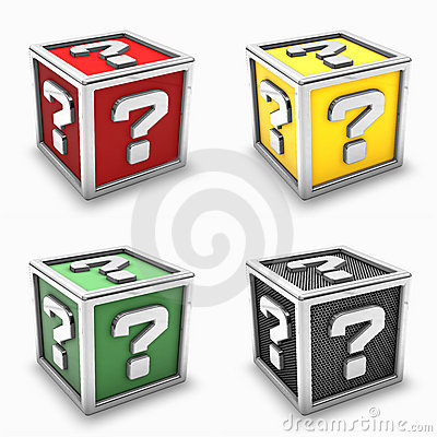 Question mark box set