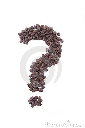Question mark of coffee beans