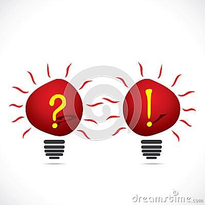 Bulb with symbol