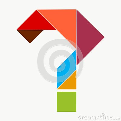 Free Question Mark From Pieces Of Tangram Puzzle Stock Photo - 118233530