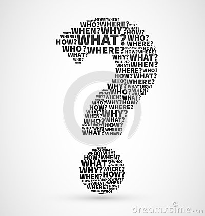 Free Question Mark From Question Words Stock Photo - 39920630