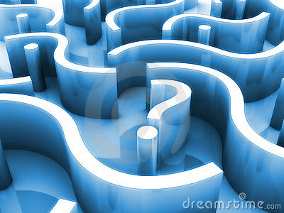 Question Mark Maze Stock Photography - Image: 8643312