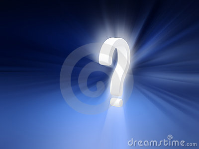 Question mark radiant background