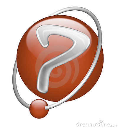 Question mark red button icon sign interrogation
