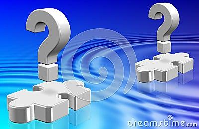 Question mark ripples