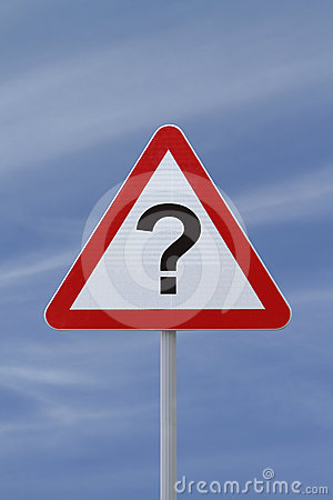 """Question Mark"" Road Sign"