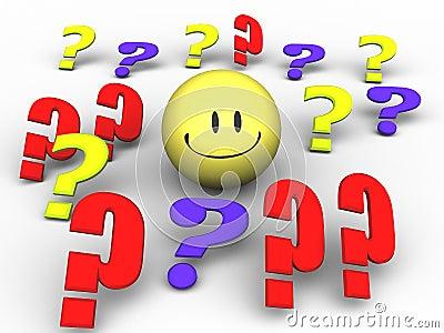 Fragezeichen-Smiley Ro...