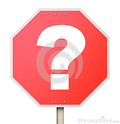 Question Mark on Stop Sign - Isolated