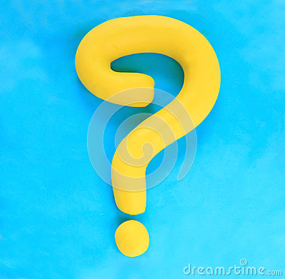 Free Question Mask Made From Colorful Clay Sculpture Stock Photos - 25265653