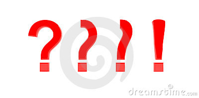 Question to exclamation mark