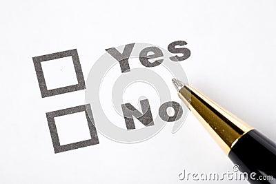 Questionnaire and pen