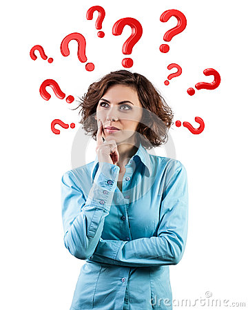 Free Questions Round A Head Royalty Free Stock Photos - 30247728