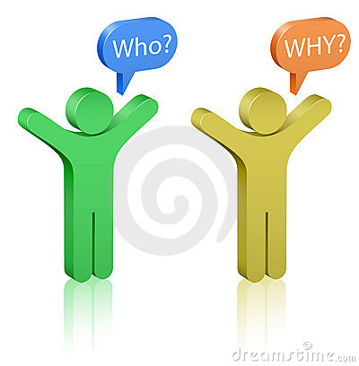 Questions: Who And Why? Royalty Free Stock Photo - Image: 16781035