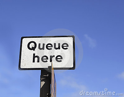 Queue here