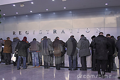 Queue on registration