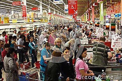 Queue At The Supermarket Editorial Stock Photo Image