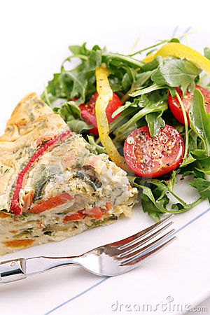 Free Quiche And Salad Royalty Free Stock Image - 2215936