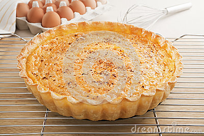 Quiche on a Cooling Rack